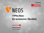TYPO Neos - Ein Überblick - DWX 2013