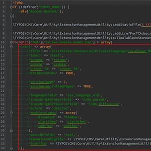 Extension Builder und TYPO3 CMS 6.2 empfohlenes TCA-Setup