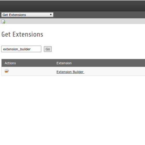 Installation des Extension-Builder