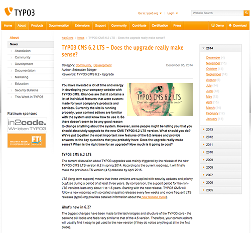 typovision article published on typo3.org